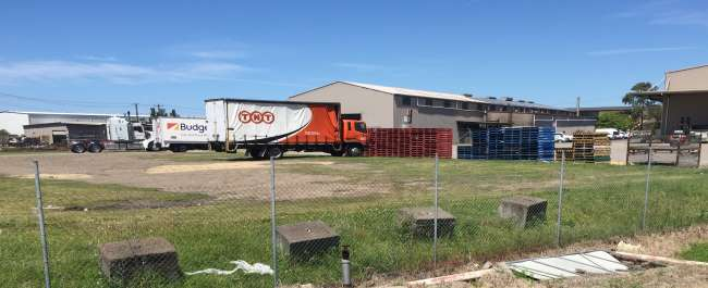 Land contamination can occur at industrial sites