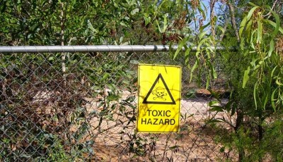 toxic hazard on contaminated site