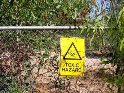 toxic hazard on contaminated site