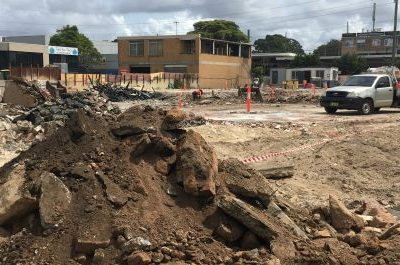 Land remediation for asbestos contaminated site